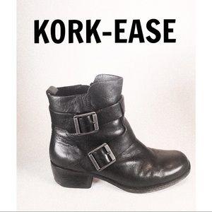 KORK-EASE Anthropologie Black Leather Boots/ 8